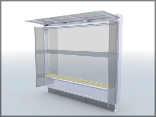 Centro Bus Shelters 3D
