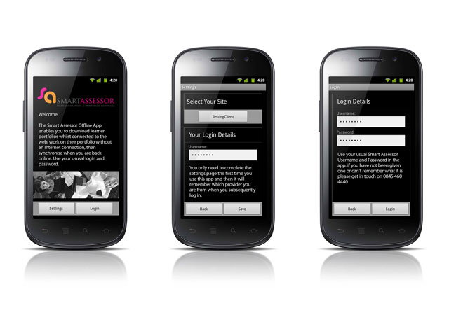 Smart Assessor Android Designs