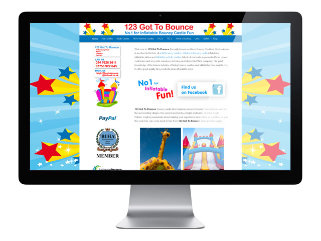 123GotToBounce WordPress Website