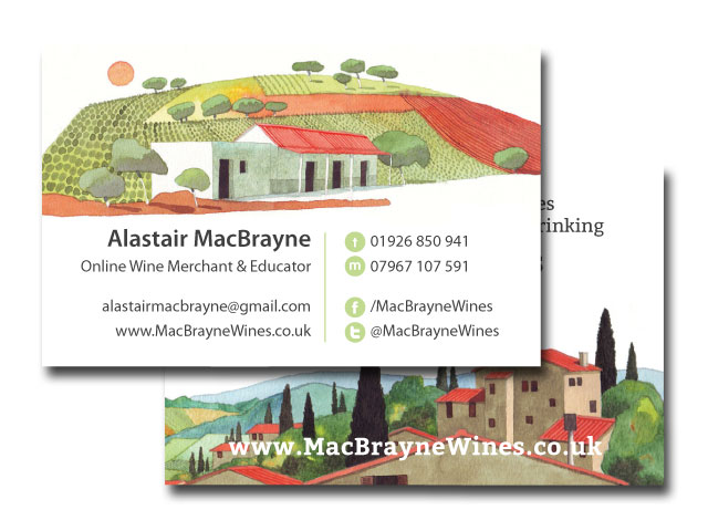 MacBrayne Wines Business Cards