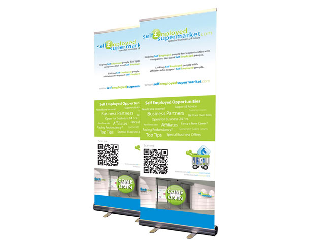 Self Employed Supermarket Popup Banners