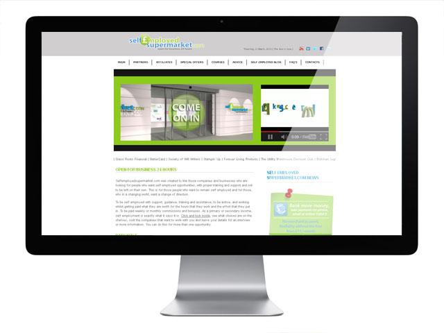 Self Employed Supermarket Web Design