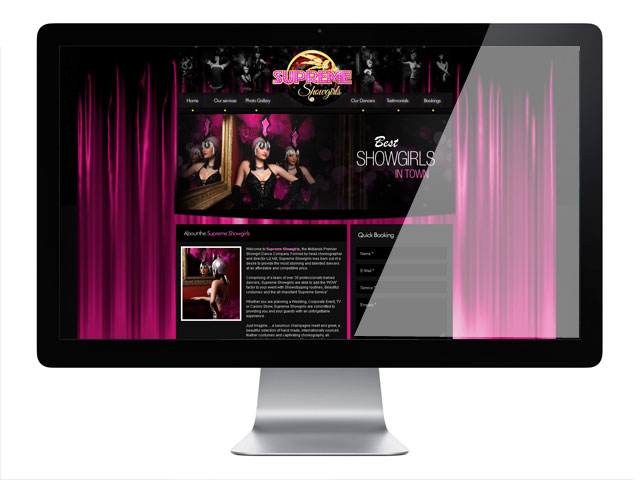 Supreme Showgirls Website Design